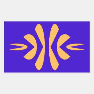 geometrical figure geometric shape rectangular sticker