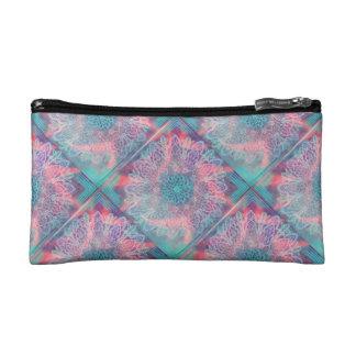 Geometrical Floral/multicolorDesign by Carol Zeock Cosmetic Bag