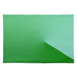 Geometrical green cloth placemat