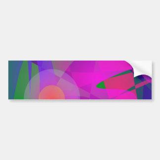 Geometrical Pink Blue and Green Bumper Sticker