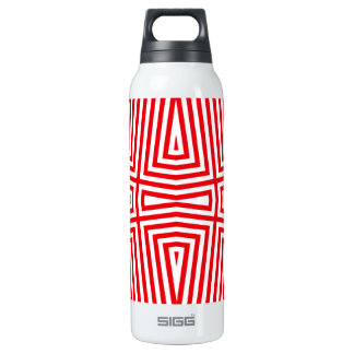 Geometrical Red Liberty Bottle red 16 Oz Insulated SIGG Thermos Water Bottle
