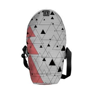 Geometrical sample of triangles Spacetipi Messenger Bag