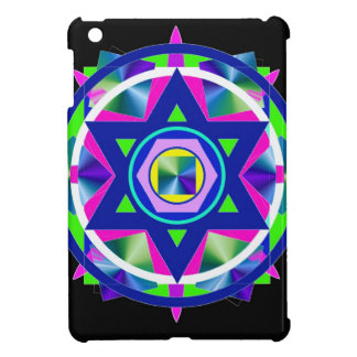 Geometrical Stained Glass Star of David. iPad Mini Cases