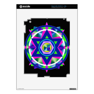 Geometrical Stained Glass Star of David Skin For The iPad 2