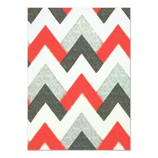 Geometrical Zig Zag Pattern Card