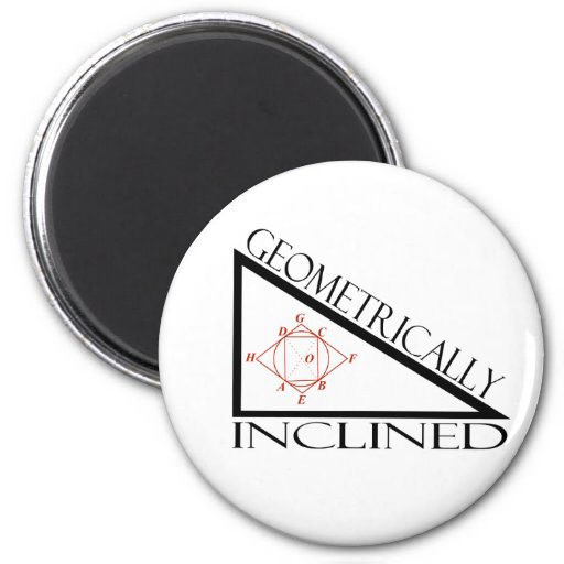 Geometrically Inclined 2 Inch Round Magnet