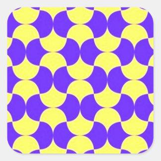 geometricas de los formas de COM del padrão Pegatina Cuadrada