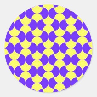geometricas de los formas de COM del padrão Pegatina Redonda