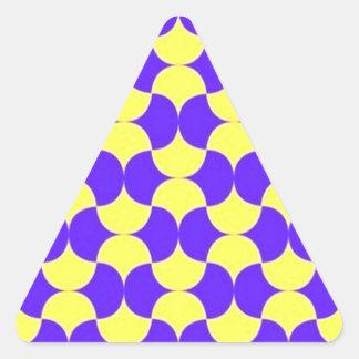 geometricas de los formas de COM del padrão Pegatina Triangular