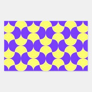 geometricas de los formas de COM del padrão Pegatina Rectangular