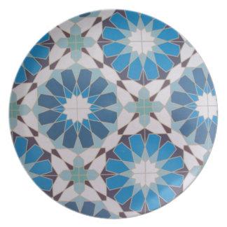geometricas de los formas de COM del padrão Plato De Comida