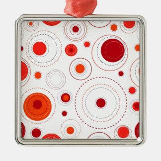 geometricas de los formas del imagem adorno navideño cuadrado de metal