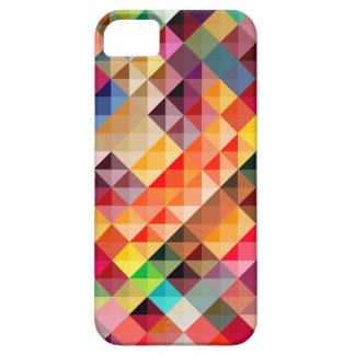 Geométrico abstracto colorido funda para iPhone 5 barely there