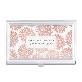 Geométrico abstracto floral del brillo color de cajas de tarjetas de visita