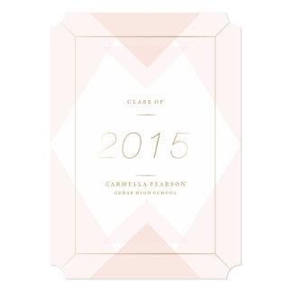Geométrico adentro se ruboriza la invitación de la invitación 12,7 x 17,8 cm