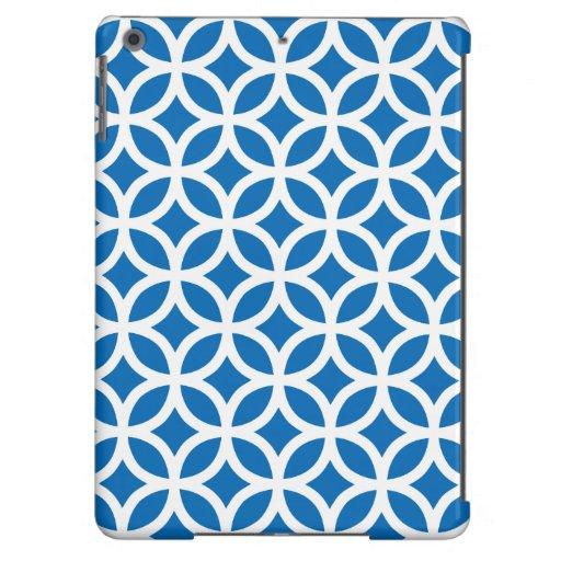geométrico azul de la caja \ del deslumbramiento carcasa para iPad air