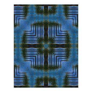 Geométrico azul de las reflexiones cuadradas membrete personalizado
