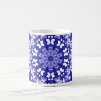 Geométrico azul del arte islámico tazas de café