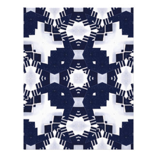 Geométrico azul marino y blanco membrete