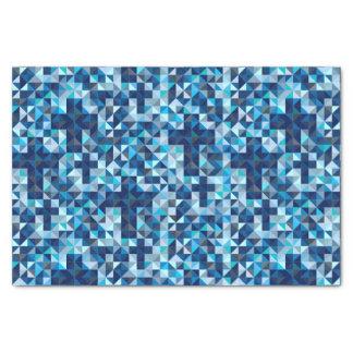 Geométrico azul moderno de las cruces cristianas papel de seda pequeño