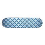 Geométrico azul monopatín personalizado
