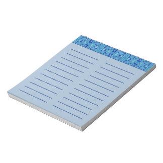 Geométrico azul para hacer la libreta de la lista bloc de papel