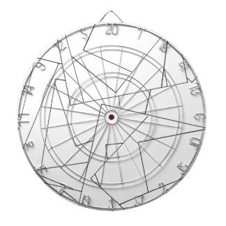 Geométrico blanco y negro - dibujo abstracto de la