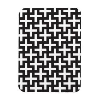 Geométrico blanco y negro imán