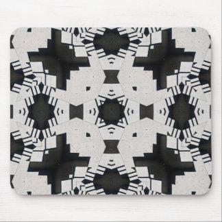 Geométrico blanco y negro alfombrillas de raton