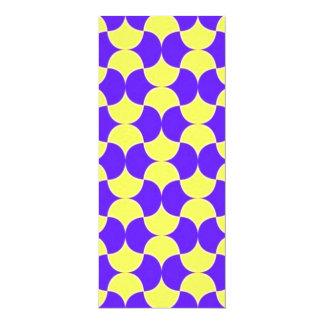 """geometrico del padrão invitación 4"""" x 9.25"""""""