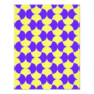 """geometrico del padrão invitación 4.25"""" x 5.5"""""""