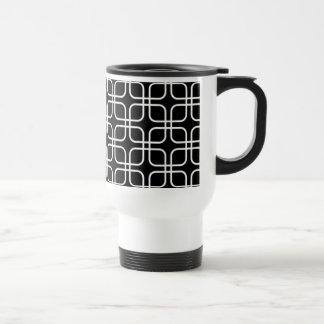 geometrico del padrão un ebranco del preto