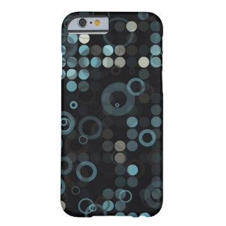 Geométrico elegante del círculo azul gris funda de iPhone 6 barely there