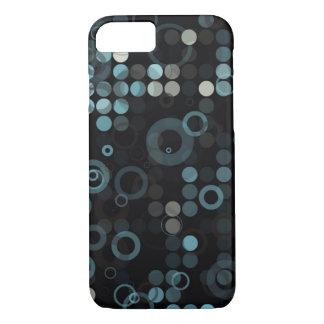 Geométrico elegante del círculo azul gris funda iPhone 7