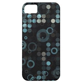 Geométrico elegante del círculo azul gris iPhone 5 carcasa