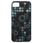 Geométrico elegante del círculo azul gris masculin iPhone 5 Case-Mate coberturas