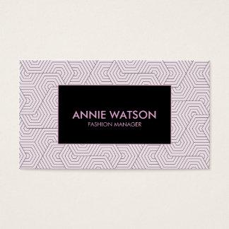 ★ geométrico elegante púrpura de la plantilla de tarjetas de visita