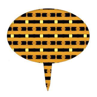 Geométrico en amarillo y negro decoraciones de tartas