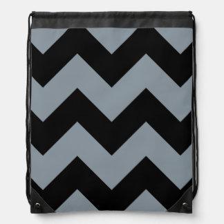 geométrico gris negro del galón mochilas