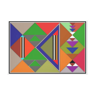 Geométrico Impresión En Lona