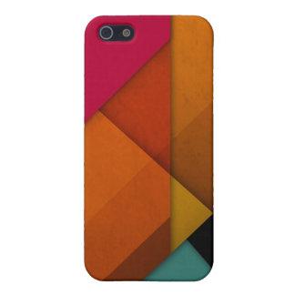 geométrico linear del arte retro abstracto colorid iPhone 5 funda