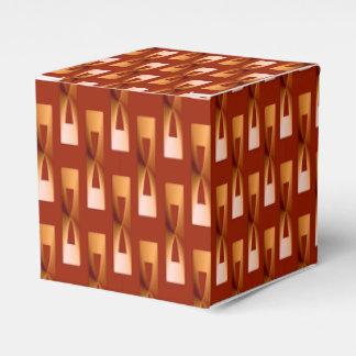 Geométrico metálico del art déco - cobre y moho caja para regalo de boda
