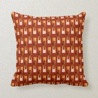Geométrico metálico del art déco - cobre y moho cojín decorativo