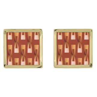 Geométrico metálico del art déco - cobre y moho gemelos dorados