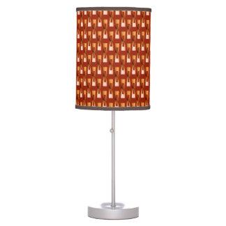 Geométrico metálico del art déco - cobre y moho lámpara de mesa