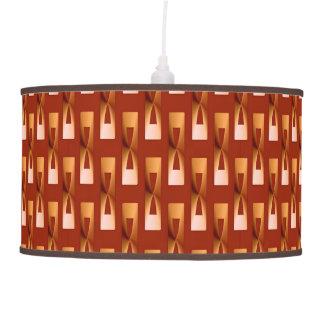 Geométrico metálico del art déco - cobre y moho lámpara de techo