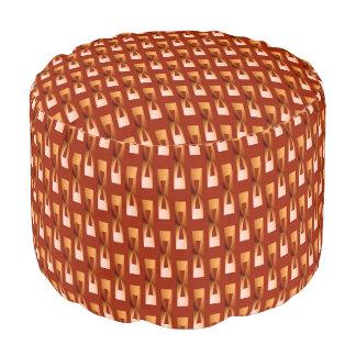 Geométrico metálico del art déco - cobre y moho puf redondo