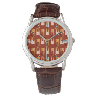 Geométrico metálico del art déco - cobre y moho relojes de mano