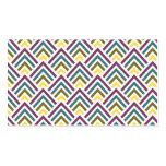 Geométrico moderno del zigzag multicolor elegante  tarjeta personal