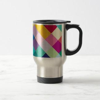 Geométrico multicolor taza de viaje de acero inoxidable